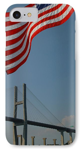 Stars And Stripes In Savannah IPhone Case