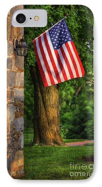 Stars And Stripes IPhone Case by Lois Bryan