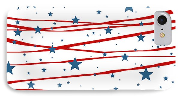 Stars And Stripes IPhone Case by Marianna Mills