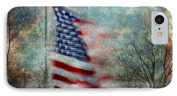 Stars And Stripes American Flag Artistic Liberty IPhone Case by Clare VanderVeen