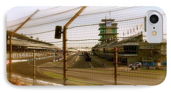 IPhone Case featuring the photograph Start Finish Indianapolis Motor Speedway by Iconic Images Art Gallery David Pucciarelli
