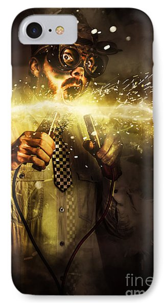 Start Up Business Man With Explosive Idea IPhone Case