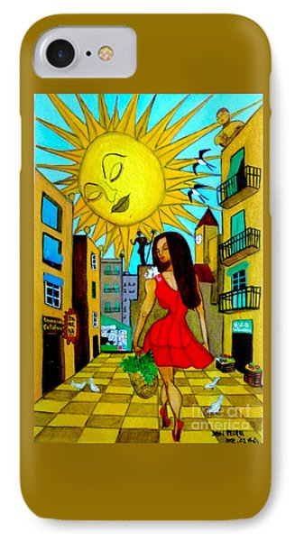 IPhone Case featuring the painting Starting A New Day by Don Pedro De Gracia