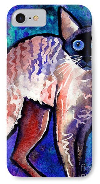Startled Cornish Rex Cat IPhone Case by Svetlana Novikova