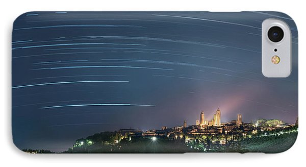 Startrails Over San Gimignano IPhone Case