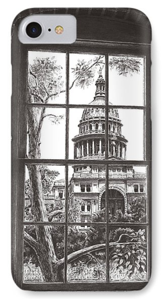 State Capitol Of Texas IPhone Case by Norman Bean