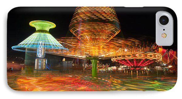 State Fair Rides At Night I Phone Case by Clarence Holmes