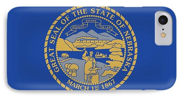 State Flag Of Nebraska IPhone Case by American School