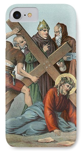 Station Ix Jesus Falls Under The Cross The Third Time IPhone Case by English School