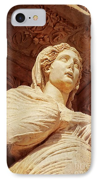 Statue At The Library Of Celsus IPhone Case