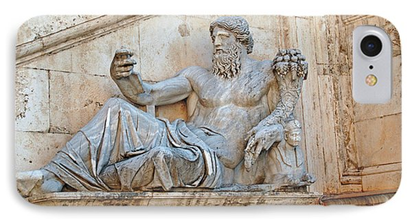 Statue Capitoline Hill Of Rome Italy Phone Case by Eva Kaufman