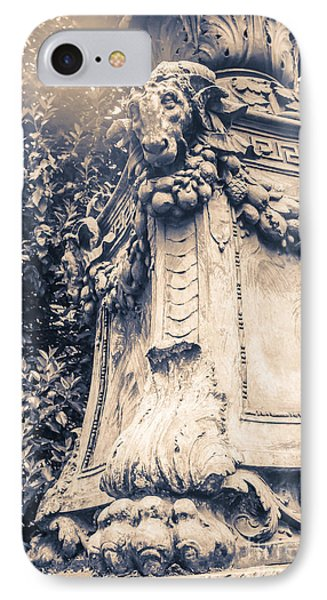 Statue In Bryant Park Nyc IPhone Case by Edward Fielding