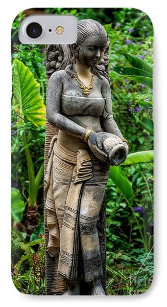 Statue In The Garden IPhone Case by Adrian Evans