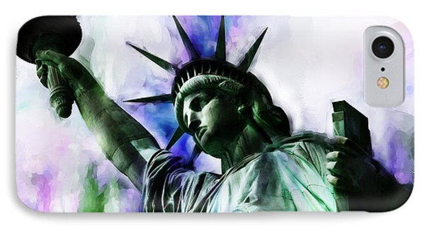 Statue Of Liberty 08 IPhone Case by Gull G