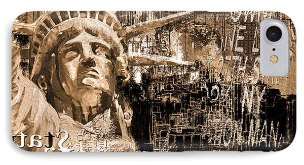 Statue Of Liberty 204 4  IPhone Case by Mawra Tahreem