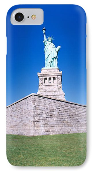Statue Of Liberty And Pedestal, New York IPhone Case by Panoramic Images