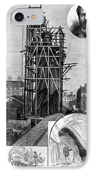 Statue Of Liberty, C1884 IPhone Case by Granger