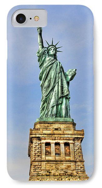 Statue Of Liberty Front View Phone Case by Randy Aveille