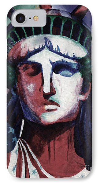 Statue Of Liberty Hb5t IPhone Case by Gull G