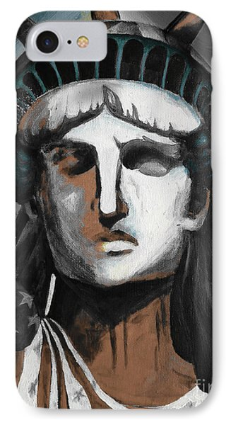 statue of liberty KJ78 IPhone Case by Gull G