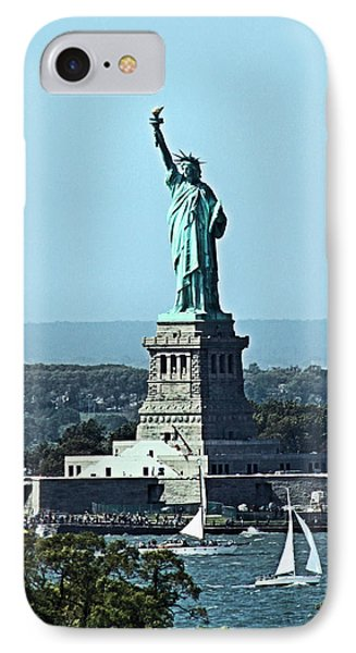 Statue Of Liberty IPhone Case by Kristin Elmquist