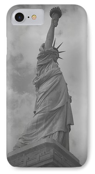 Statue Of Liberty IPhone Case by Louise Fahy