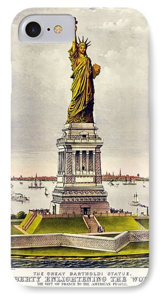 Statue Of Liberty IPhone Case by Pg Reproductions