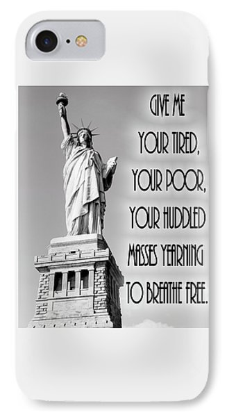 Statue Of Liberty Quote IPhone Case