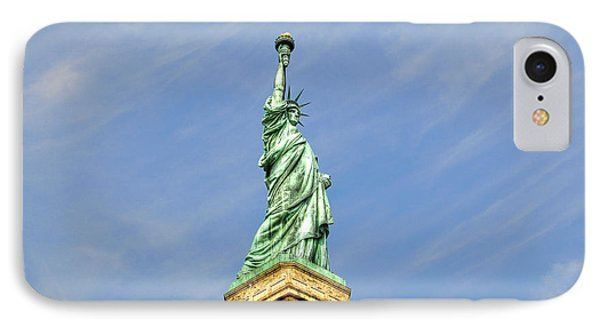 Statue Of Liberty Phone Case by Randy Aveille