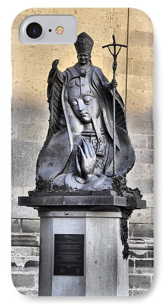 Statue Of Pope John Paul IPhone Case by Jim Walls PhotoArtist