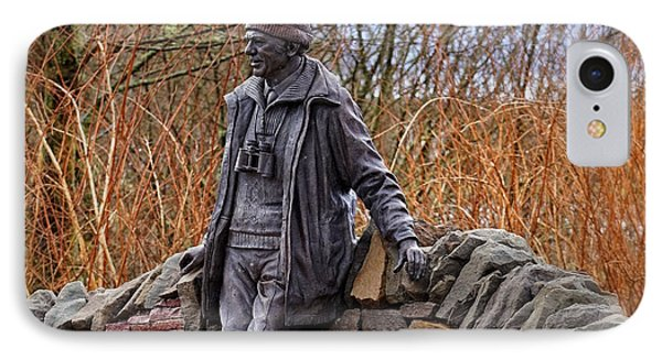 Statue Of Tom Weir IPhone 7 Case by Jeremy Lavender Photography