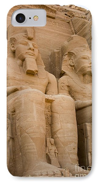 Statues At Abu Simbel IPhone Case by Darcy Michaelchuk