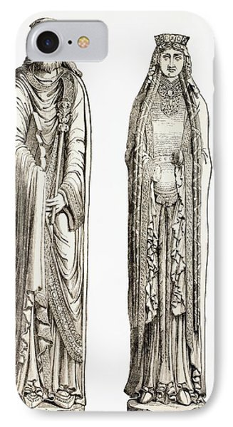 Statues Of King Clovis I And His Wife IPhone Case by Vintage Design Pics