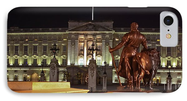 IPhone Case featuring the photograph Statues View Of Buckingham Palace by Terri Waters