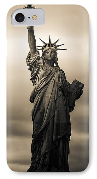 Statute Of Liberty IPhone Case by Tony Castillo