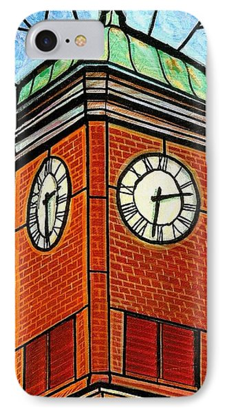 Staunton Clock Tower Landmark IPhone Case by Jim Harris