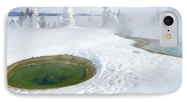 IPhone 7 Case featuring the photograph Steam And Snow by Gary Lengyel