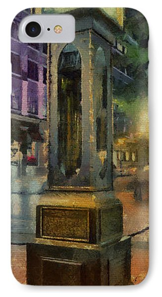 IPhone Case featuring the digital art Steam Clock Gastown by Jim  Hatch