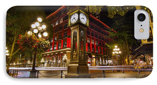 Steam Clock In Historic Gastown Vancouver Bc IPhone Case