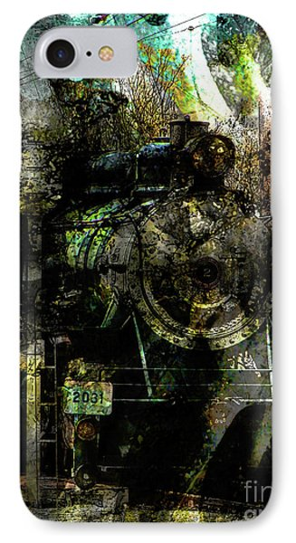Steam Engine At Bay Phone Case by Robert Ball