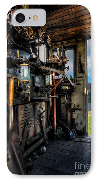 Steam Locomotive Footplate IPhone Case by Adrian Evans