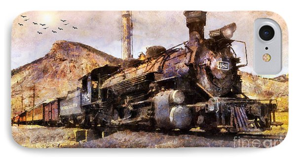 IPhone Case featuring the digital art Steam Locomotive by Ian Mitchell