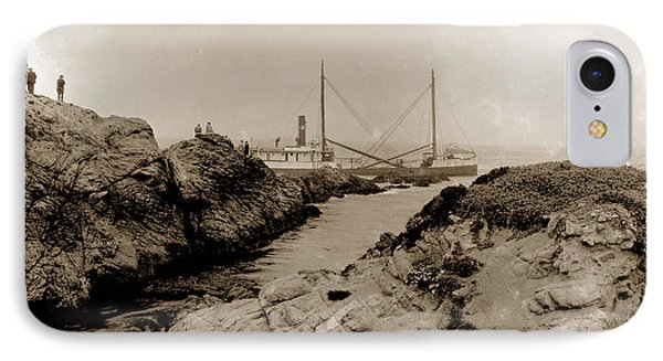 Steam Schooner S S J. B. Stetson, Ran Aground At Cypress Point, Sep. 1934 IPhone Case by California Views Mr Pat Hathaway Archives
