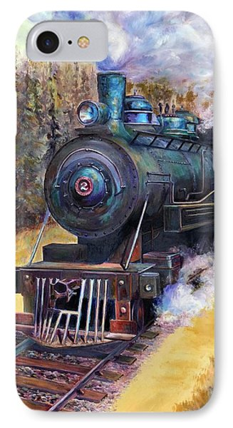 Steam Through The Pines IPhone Case by Bonnie Goedecke