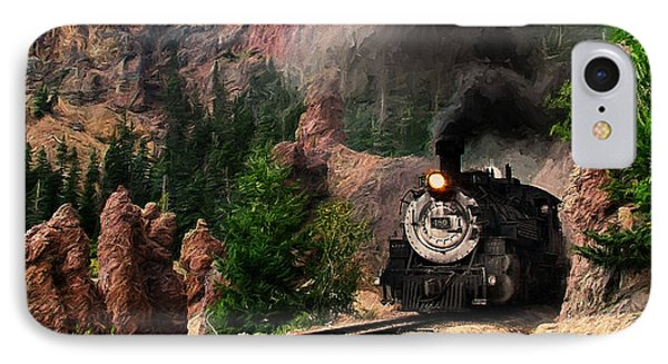 IPhone Case featuring the photograph Steam Through The Rock Formations by Ken Smith