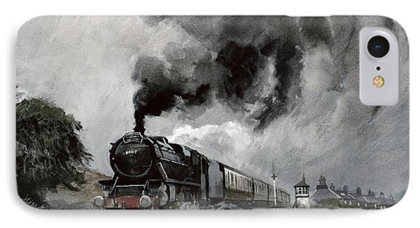 Steam Train At Garsdale - Cumbria IPhone Case by John Cooke