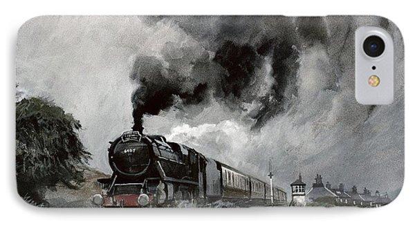 Steam Train At Garsdale - Cumbria IPhone Case by John Cooke