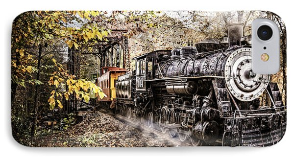 Steam Train's Coming IPhone Case by Debra and Dave Vanderlaan