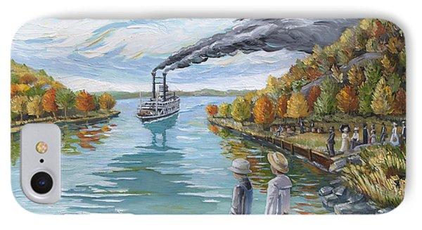 Steamboat Around The Bend Phone Case by Paula Blasius McHugh