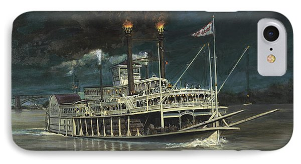Steamboat On Mississippi IPhone Case